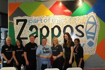 the massage team at zappos